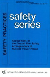 SAFETY P R A C TIC ES - gnssn - International Atomic Energy Agency
