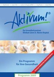 Ein Programm für Ihre Gesundheit Programm 2009 - Aktivum