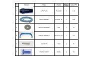 Cenik náhradních dílů Aquabot CLASSIC - AROBOT