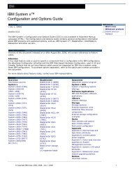 IBM System x™ Configuration and Options Guide - IBM Quicklinks