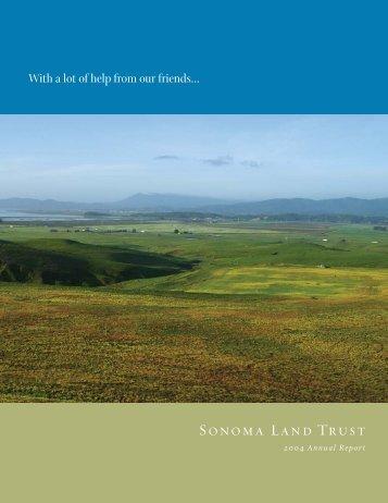 2004 Annual Report - 1.24MB PDF - Sonoma Land Trust