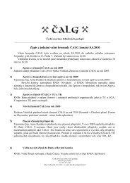 Zápis z jednání valné hromady ČALG konané 8.4.2010