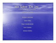 We Solve 'Em Inc.
