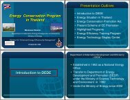 Energy Conservation Program in Thailand Energy Conservation ...