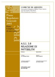 Piano Regolatore Generale 2003 - Comune di Arezzo