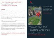 You can take this Towering Challenge - The Churches Conservation ...