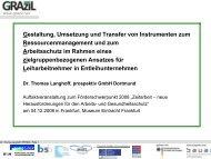 Vortrag Dr. Thomas Langhoff - Gesunde Zeitarbeit