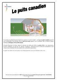 Fiches Puits canadien - Espace Info Energie Pays de la Loire