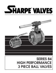 High Performance 3 Piece Ball Valves - Series 84 - Temp-Press Inc