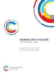 Sborník Statí o kultuře - Ministerstvo kultury