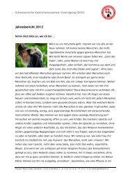 Jahresbericht 2012 - Schweizerische Kaninchen Experten ...