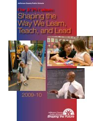 Shaping the Way We Learn, Teach, and Lead - Jefferson County ...