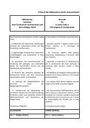 Entwurf des Abkommens mit dem Heiligen Stuhl - Regierung des ...