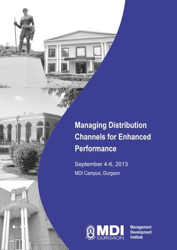 "MDP on ""Managing Channels for Enhanced Performance"""
