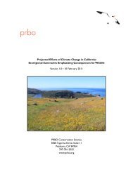 Projected Effects of Climate Change in California - Point Reyes Bird ...