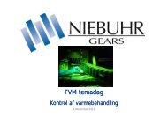 Niebuhr Gears kvalitetskontrol - FMV