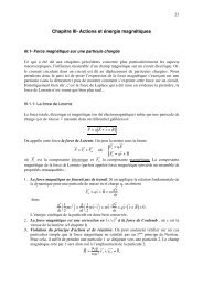 Chapitre III- Actions et énergie magnétiques