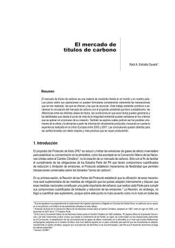 El mercado de títulos de carbono - Consejo Argentino para las ...