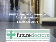 Archived presentation from PMETB Annual Conference for ...