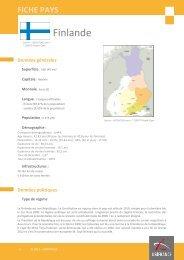 Fiche pays Finlande 2012 - Veille info tourisme