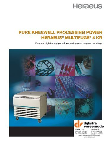 pure kneewell processing power heraeus® multifuge® 4 kr