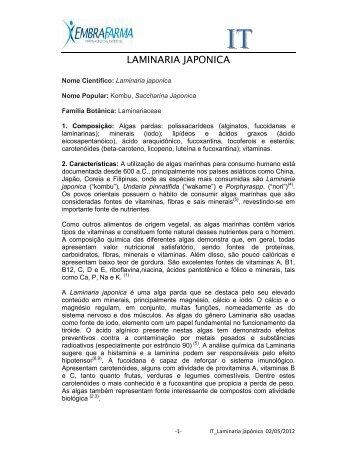 LAMINARIA JAPONICA - EMBRAFARMA