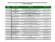 Board of Trustees Distinguished Graduate Student Research ...