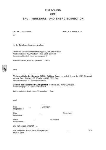 Entscheid BVE - aktionguemligenfeld.ch