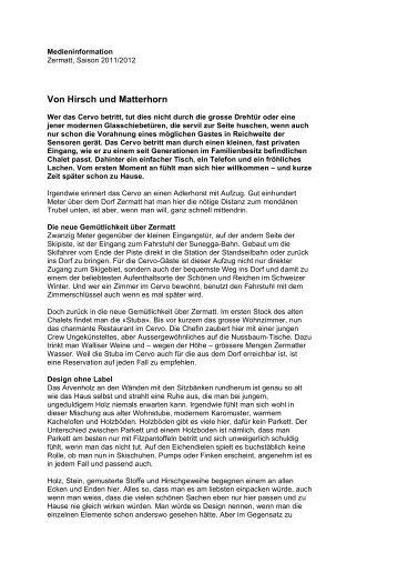 Von Hirsch und Matterhorn - Cervo