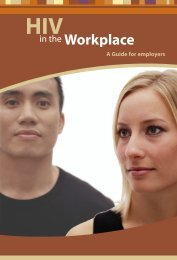 HIV in the Workplace - Canadian Public Health Association