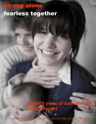Annual Report DRAFT INSIDE 2004.05 - YWCA USA