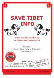 Juni 2012 64. Ausgabe STEUERLICH ABSETZBAR - Save Tibet