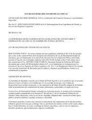 LEY DE HACIENDA DEL ESTADO DE ZACATECAS ... - Finanzas
