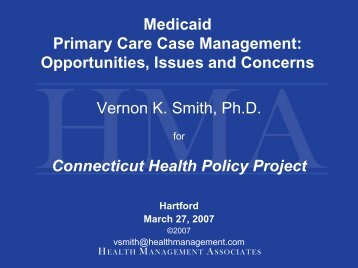 Presentation - Connecticut Health Policy Project