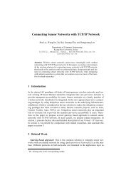 Connecting Sensor Networks with TCP/IP Network - Ubiquitous ...
