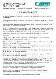 SSC12 turnauksen säännöt - Suomen Palloliitto