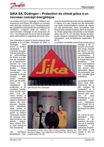 SIKA SA, Düdingen – Protection du climat grâce à un ... - Danfoss