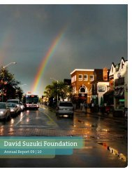 2010 Annual Report (PDF) - David Suzuki Foundation