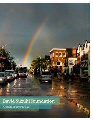 2010 Annual Report (PDF) - David Suzuki Foundation