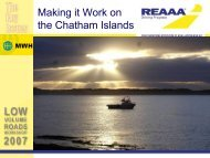 Making it Work on the Chatham Islands - roads.co.nz