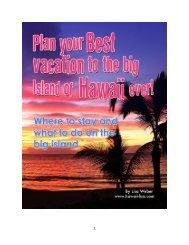 Plan Your Best Big Island Vacation Ever - Hawaii-Lisa