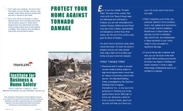 protect your home against tornado damage - Travelers Insurance