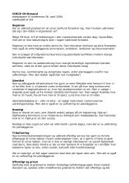 CHECK-IN Øresund arbejdspapir til konference 26. april 2004 ... - UiD