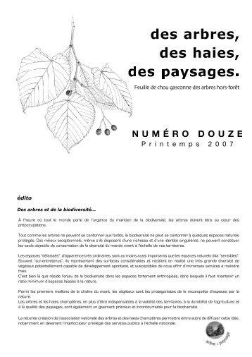 numéro 12 - avril 2007 - Arbre & Paysage