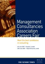 Management Consultancies Association Careers Fair