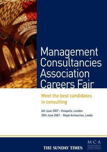 Management Consultancies Association Careers Fair