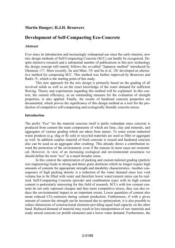 Thesis self compacting concrete