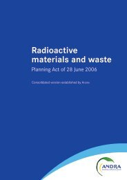 Radioactive materials and waste - Planning Act of 28 June ... - Andra