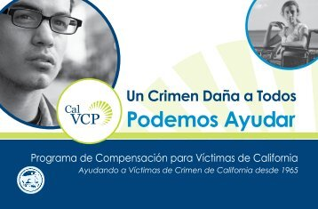 Podemos Ayudar - California Victim Compensation and Government ...