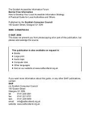 The Scottish Accessible Information Forum Barrier-Free Information ...